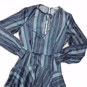Finders Keepers Blue Handkerchief Mini Dress